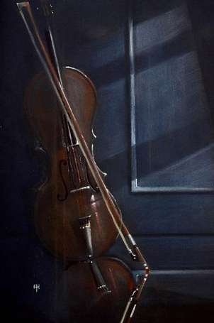 violin en la ventana, violin on the window