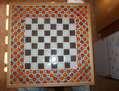 Damero de ajedrez mosaico ceramico