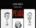 afiche pearl jam  caricaturas