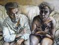 Doble retrato de unos padres