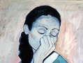 Mujer azul.