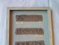 Mural de tabletas de escritura
