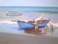 Pescadores en la playa