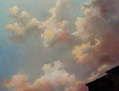 Cálido cielo de atardecer