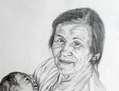 retrato maternal bisabuela Dña Catalina