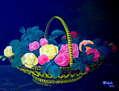 Une corbeille de fleurs
