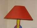 LAMPARA DE CRISTAL PINTADO