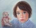 La niña y el osito