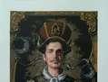 retrato de Hombre Moderno Serigrafía