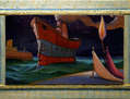 La llegada de el barco de los sueños - (enmarcado)