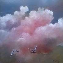 nubes y gaviotas
