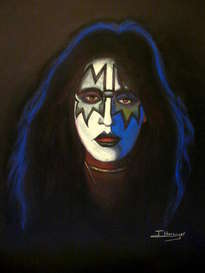 retrato ace frehley - kiss