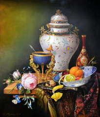bodegòn con porcelana