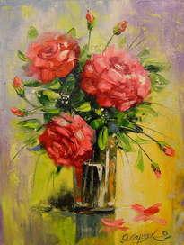 el ramo de rosas rojas