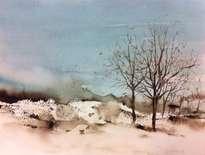 invierno en turquesa y sepia