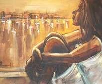 mujer mirando al puerto