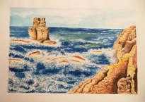 mar bravo en la costa coruñesa