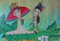 mujeres y frutas