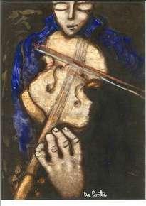 violinista azul