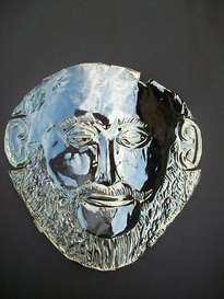 la máscara de oro del rey 24? agamenón