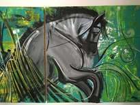 horse in green