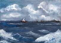 marina con veleros