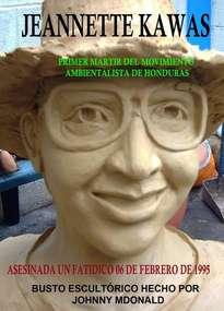 jeannette kawas - escultura hondureña