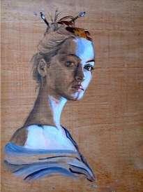 la mujer azul.