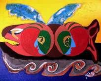 hno. oscar galo ( figura de pescado 100 x 122 cm ( precio us$ 17,000