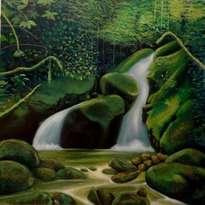 paisaje cascada