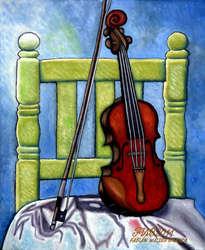 violín y silla (violin and chair)