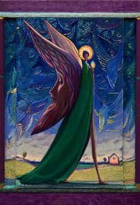el ángel de las lunas - ( enmarcado )