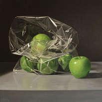 bolsa con manzanas