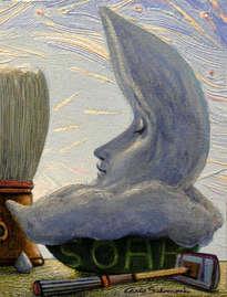 la luna de jabón - ( enmarcado )