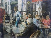 escena en el cafè