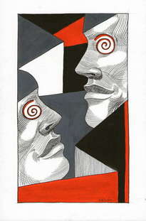 saban arte  -  hermanosaban - saban pinturas - guatemala - dicen que tu y yo estamos locos