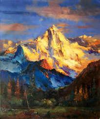 splendid golden mountain