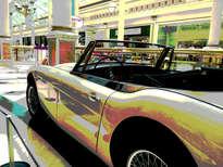 coche beig vintage