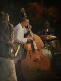 jazz -saxo y contrabajo