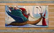 el caracol magico de papá noel - ( enmarcado )