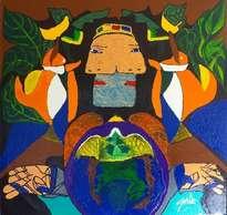 hno. oscr galo ( dama picassiana 123 x 128 cm ( precio us$ 19,000