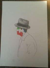 figura con sombrero i