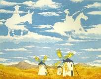 d: quijote ,  nubes de la mancha