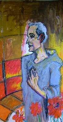 the scanish monk made with oilpastell.