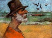 viejo de la playa