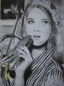 la dama del microfono