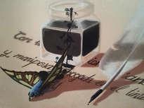 mariposa ahogada en el tintero