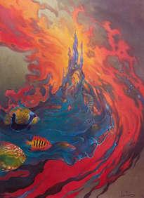 autorretrato con visión subacuática
