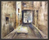 valls-pintura-tarragona-paisajes-calles-tecnica-mixta-cuadros-pintor-ernest descals