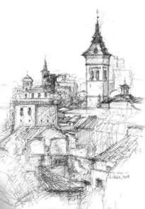 vista de guadalajara. torre de santa maría